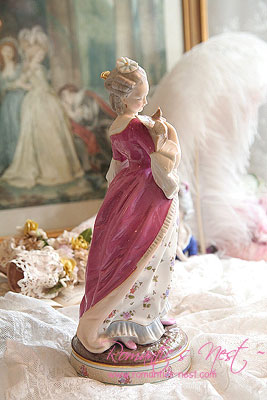 "Volkstedt ""waiting for letter.. LADY""  FIGURINE -Christian Nonne-"